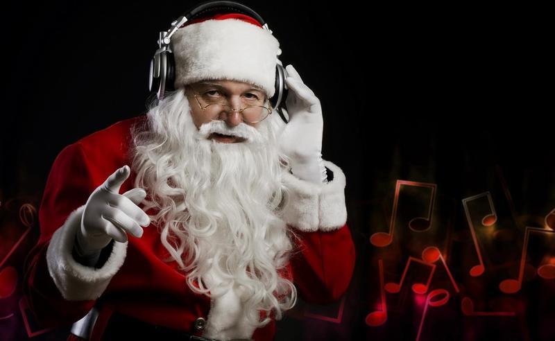 Santa-Claus-Christmas-Headphones-Music-Hand